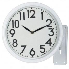 Nástěnné hodiny Swing, bílá barva, kov