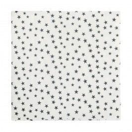 Papírové ubrousky Stars - 20 ks, černá barva, papír