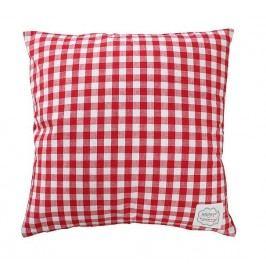 Povlak na polštář Red checker 50x50, červená barva, textil
