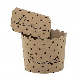Papírové košíčky na muffiny - 8 ks, hnědá barva, papír