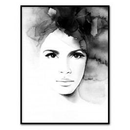 Plakát Pretty Anne 30 x 40 cm, černá barva, bílá barva, papír