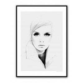 Plakát Grey Twiggy 30 x 40 cm, šedá barva, černá barva, papír