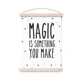 Plakát do dětského pokojíčku Magic A3, černá barva, papír