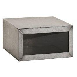 Zinkový box Glass lid, šedá barva, zinek