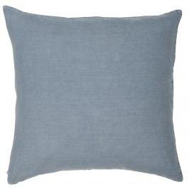 Lněný povlak na polštář Colonial Blue 50x50 cm, modrá barva, textil