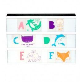 Set obrázků a písmenek pro Lightbox ABC Pastel, multi barva, plast