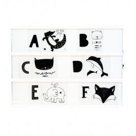 Set obrázků a písmenek pro Lightbox ABC Black, černá barva, plast