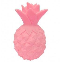 Noční LED lampička Pink Pineapple, růžová barva, plast