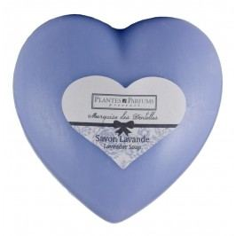 PLANTES ET PARFUMS provence Levandulové mýdlo Heart 100gr, fialová barva