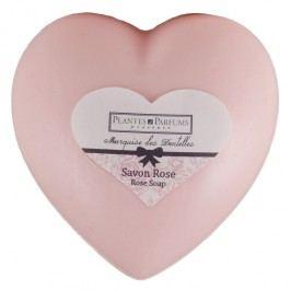 PLANTES ET PARFUMS provence Růžové mýdlo Heart 100gr, růžová barva