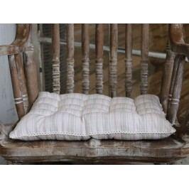 Prošívaný sedák Lace Edge 40x40 cm, růžová barva, šedá barva, bílá barva, textil