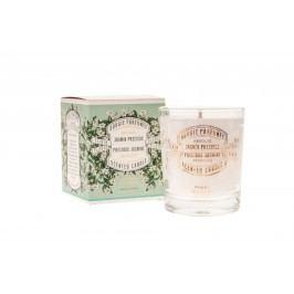 Vonná svíčka - Jasmin precieux, zelená barva, bílá barva, sklo