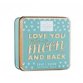 Mýdlo v plechové krabičce Love you, modrá barva, kov
