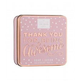Mýdlo v plechové krabičce Being awesome, růžová barva, kov
