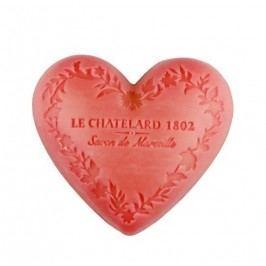 Mýdlo Heart - jasmín a růže 100gr, růžová barva