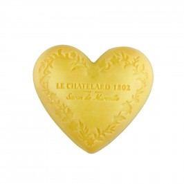 Mýdlo Heart - mandarinka a limetka 100gr, žlutá barva