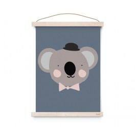 Plakát do dětského pokojíčku Sir Koala A3, modrá barva, papír