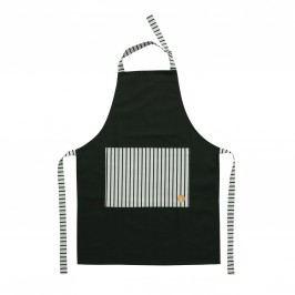 Kuchyňská zástěra Cibo, černá barva, textil