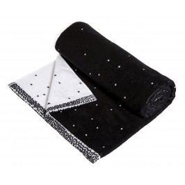 Froté osuška Dotty Black/white 70x140 cm, černá barva, bílá barva, textil