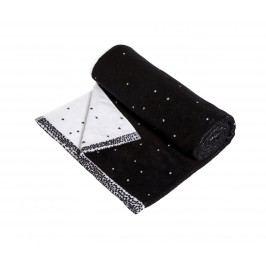 Froté ručník Dotty Black/white 50x100 cm, černá barva, bílá barva, textil