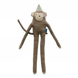 Dětský polštářek/plyšák opičák Mr. Nelsson, béžová barva, hnědá barva, krémová barva, textil