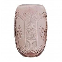 Váza Rose Glass 15 cm, růžová barva, sklo