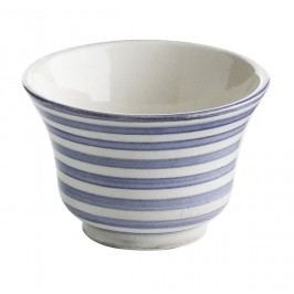 Mocca hrneček strip blue Morocoo, modrá barva, keramika