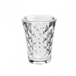 Svícen Facet glass Clear 10 cm, čirá barva, sklo