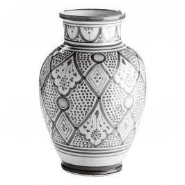 Keramická váza Morocco Grey, šedá barva, keramika