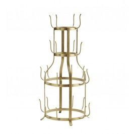 Stojan na hrnečky Antique Brass, zlatá barva, kov