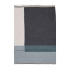 Bavlněný přehoz Dusty Blue, modrá barva, textil
