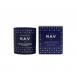 Vonná svíčka HAV (moře) 190 g (bez víčka), modrá barva, bílá barva, sklo