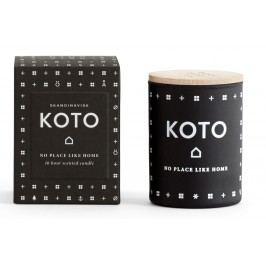 Vonná svíčka KOTO (domov) mini 55 g, černá barva, sklo, vosk