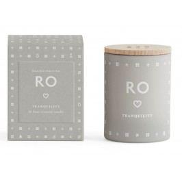 Vonná svíčka RO (klid) mini 55 g, šedá barva, sklo