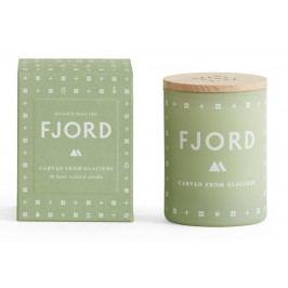 Vonná svíčka FJORD mini 55 g, zelená barva, sklo