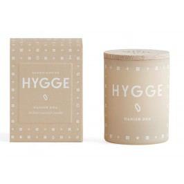 Vonná svíčka HYGGE (útulný domov) mini 55 g, béžová barva, sklo