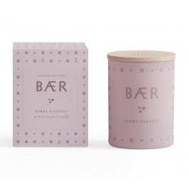 Vonná svíčka BÆR (lesní plody) mini 55 g, růžová barva, sklo