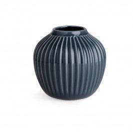 Keramická váza Hammershøi Anthracite Small, šedá barva, keramika