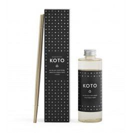 Náhradní náplň do difuzéru KOTO (domov) 200 ml, černá barva, plast