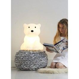 Mr Maria Dětská medvědí LED lampa Nanuk, černá barva, bílá barva, plast