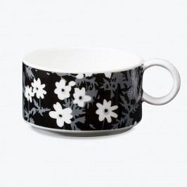 Porcelánový hrneček Windflower, bílá barva, porcelán