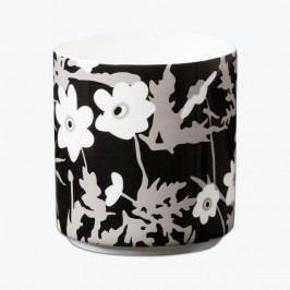 Hrneček Windflower, černá barva, bílá barva, porcelán