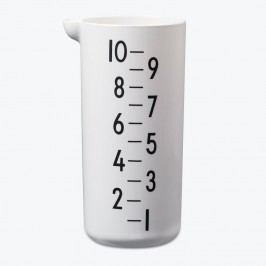 Melaminový měřicí džbánek Design Letters 1l, černá barva, bílá barva, krémová barva, melamin