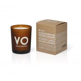 Vonná svíčka Oliva a levandule 190gr, hnědá barva, sklo