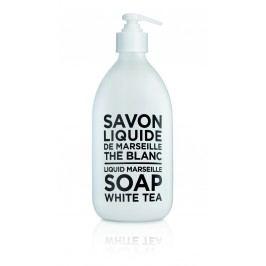 Tekuté mýdlo Bílý čaj 500 ml, černá barva, bílá barva, sklo