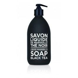 Tekuté mýdlo Černý čaj 500 ml, černá barva, bílá barva, sklo