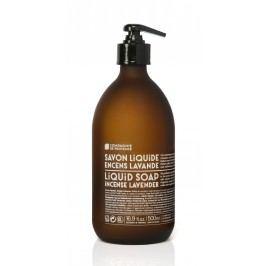 Tekuté mýdlo Oliva a levandule 500ml, hnědá barva, sklo