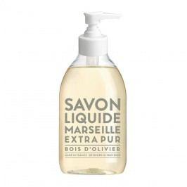 Tekuté mýdlo Olivové dřevo 300 ml, bílá barva, čirá barva, plast