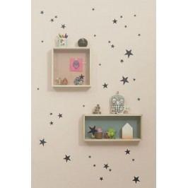 Interiérové samolepky Black Star, černá barva, papír