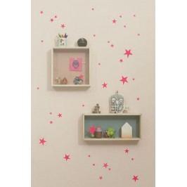 Interiérové samolepky Neon Star, růžová barva, papír